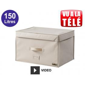 Compactor coffre gain de place sous vide 150L - Beige