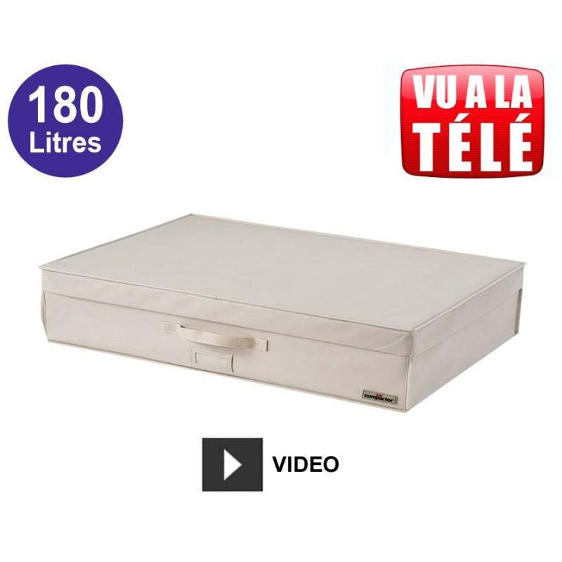Compactor coffre gain de place sous vide extra-plat 180L - Beige