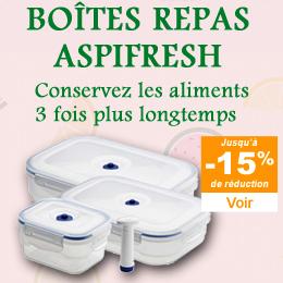 Boîte alimentaire sous vide Aspifresh
