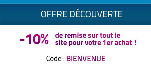 -10% de remise sur tout le site pour votre 1er achat !