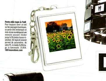 porte clefs cadre photo numérique - article VSD