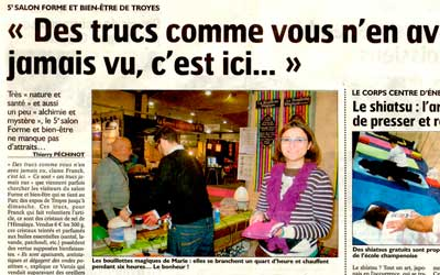 Salon de Troyes – on parle de 1001 Innovations dans le journal !