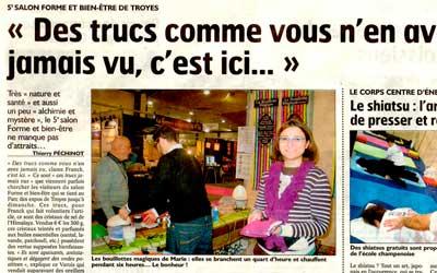 Salon de Troyes – on parle de 1001 Innovations dans le journal !