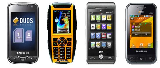 Téléphones portables avec double carte sim
