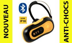 Nouveauté antichoc : un kit oreillette Bluetooth MTT résistant anti-chocs & projections d'eau