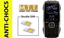 Nouveauté double SIM: le téléphone portable double carte sim et antichoc Fashion de MTT