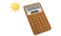 Nouveautés éco-produits : calculatrice écologique solaire et calculatrices à eau