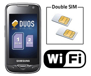 mobile double carte sim avec wifi