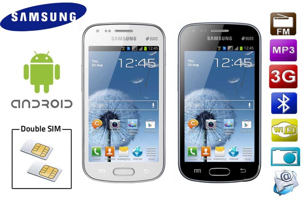 Smartphone 2 SIM Samsung Galaxy S7562 Android