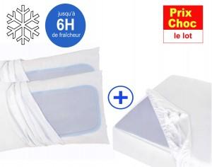 Les sur-oreillers et sur-matelas rafraîchissants et refroidissants CoolComfort
