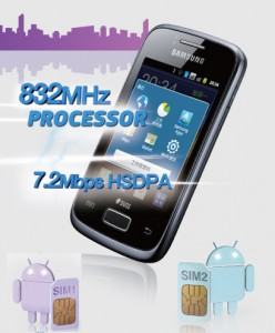 Mobile double SIM Android Samsung Galaxy S6102