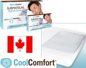 Sur-matelas et sur-oreillers rafraîchissants CoolComfort