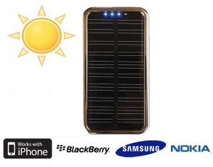Chargeur solaire 11 adaptateurs et batterie 2000mAh