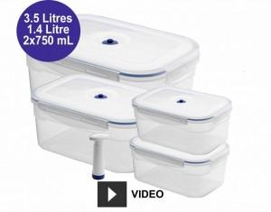 Boîtes alimentaires sous vide Aspifresh