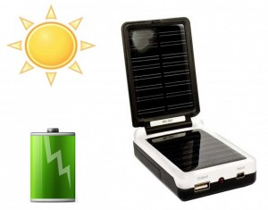 chargeur solaire piles