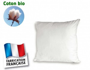 oreiller made in france coton bio