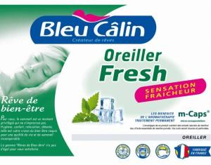 oreiller bleu calin odeur fresh