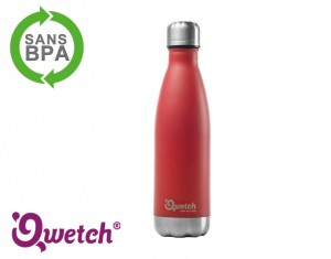 bouteille isotherme inox rouge