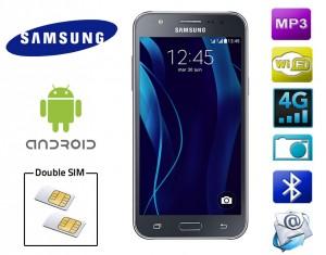 Smartphone-2-SIM-Samsung-J500-noir