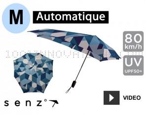 Parapluie Senz automatique bleu quartiers