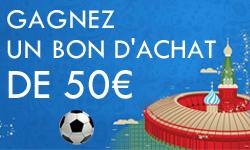 Jouez et gagnez un bon d'achat de 50€