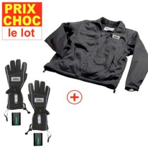 Lot veste + gants à pile