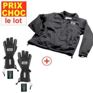 Veste + gants à pile