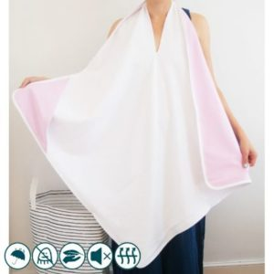 Cape de bain imperméable Rose