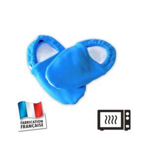 Chaussons bouillottes bleus