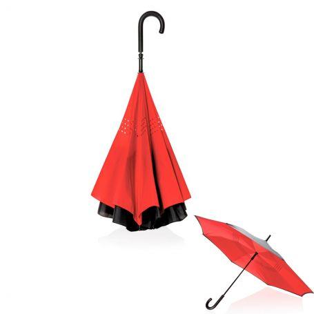 Parapluie pliage inversé - Rouge