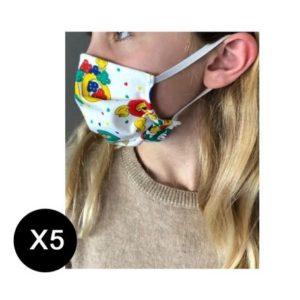 Masques enfant en tissu à monter