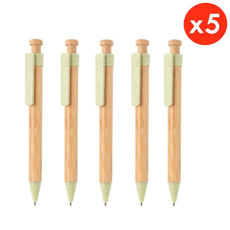 stylos en bambou avec clip écologiques