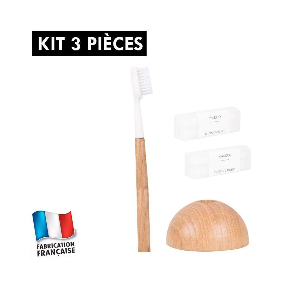 Idée cadeau : Kit brosse à dents durable chêne