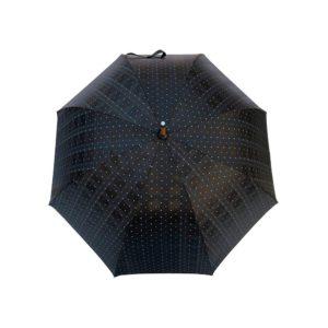 Parapluie long noir pois/rayures
