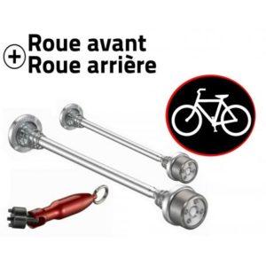 Antivol vélo roues avant et arrière