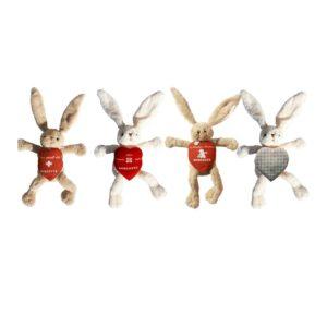 Peluche Dorlotte - lapin blanc ou brun